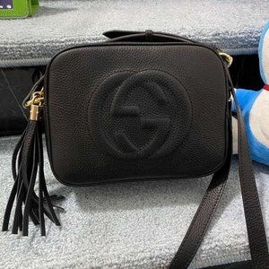 Gucci Soho Small Bagwallet Leather Disco 308364💗